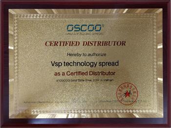 Chứng nhận Vision VSP nhà phân phối độc quyền các sản phẩm OSCCO tại Việt Nam 2021-2022