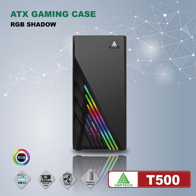 Case VSPTECH ATX Gaming T500