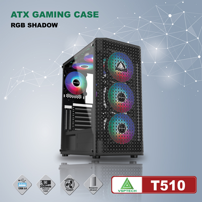 Case VSPTECH ATX Gaming T510