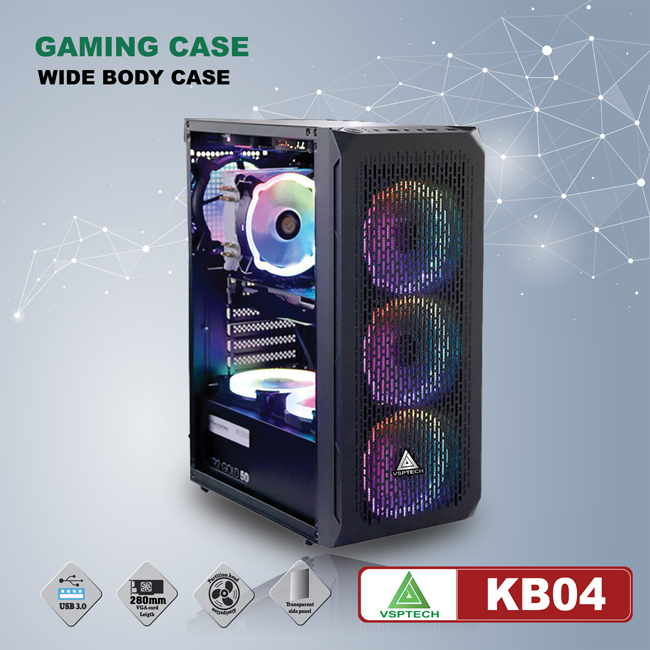 Case VSPTECH - Esport gaming KB04