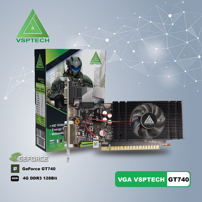 VGA GeForce GT740 (VSP GT740-4GD3 LP) - 128Bit