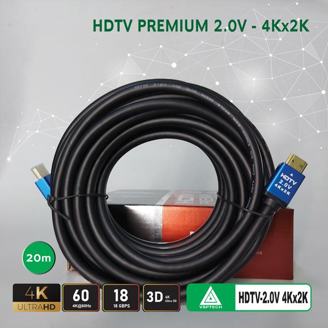 Cáp HDMI VSPTECH premium 2.0V - 20m