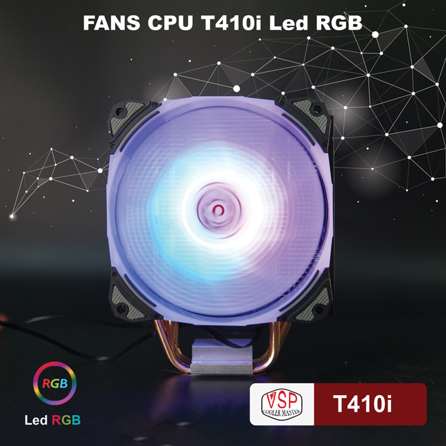Fan CPU VSP Cooler Masster T410i - Led RGB