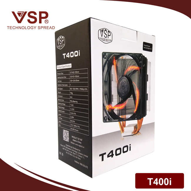 Fan CPU VSP Cooler Masster T400i