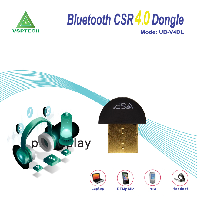 USB Bluetooth 4.0 Csr4.0 Dongle UB-V4DL