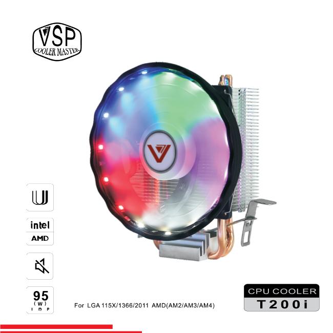Fan CPU VSP Cooler Masster T200i led RGB