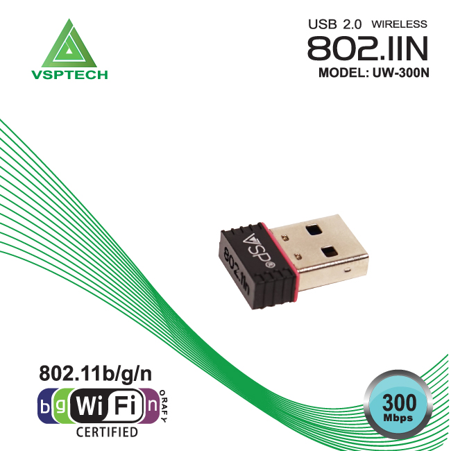 USB2.0 wireless VSP 802.IIn UW-300N