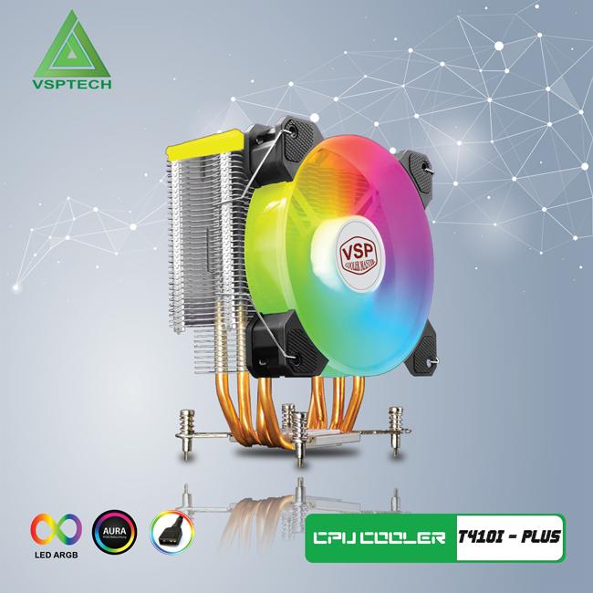 Fan CPU VSP Cooler Masster T410i PLUS Led ARGB