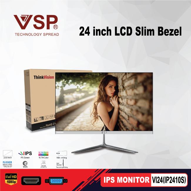 Màn hình IPS monitor VSP mỏng tràn viền Slim Bezel 24inch