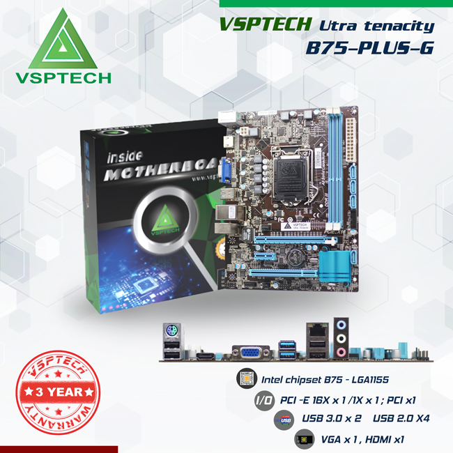 MAINBOARD VSPTECH B75-PLUS G