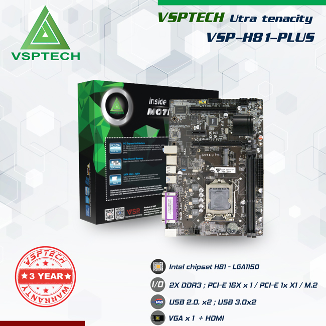 MAINBOARD VSPTECH H81-PLUS