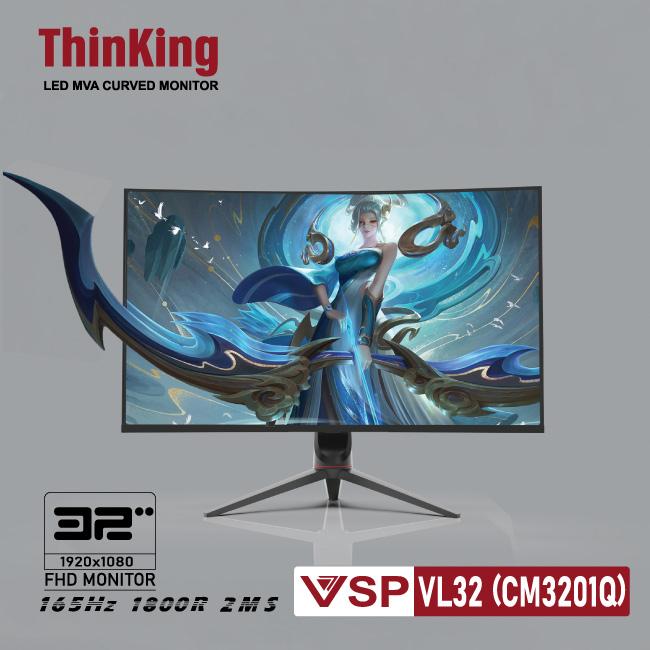 Màn hình cong 32inch VSP ThinKing Master Gaming VL32(CM3201Q)