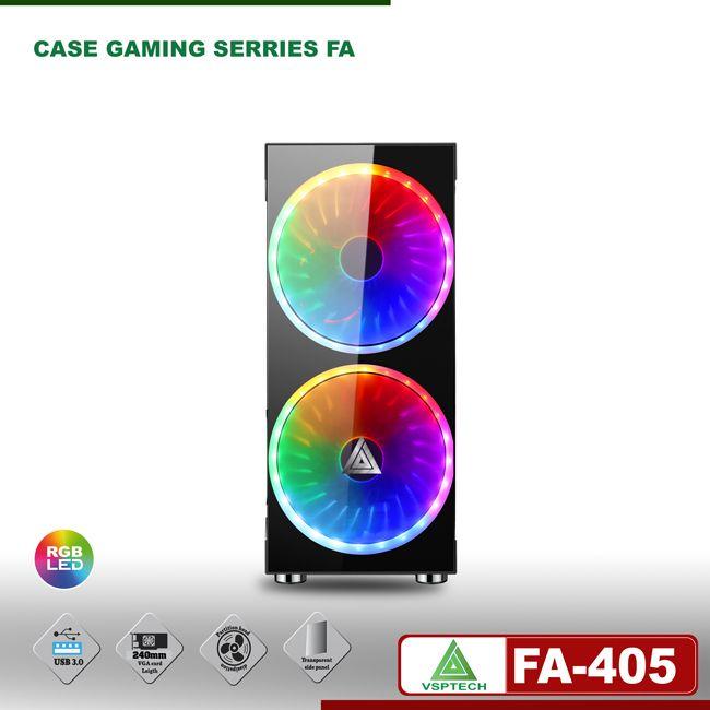 Case gaming VSPTECH FA-405 kèm fan LED 162mm