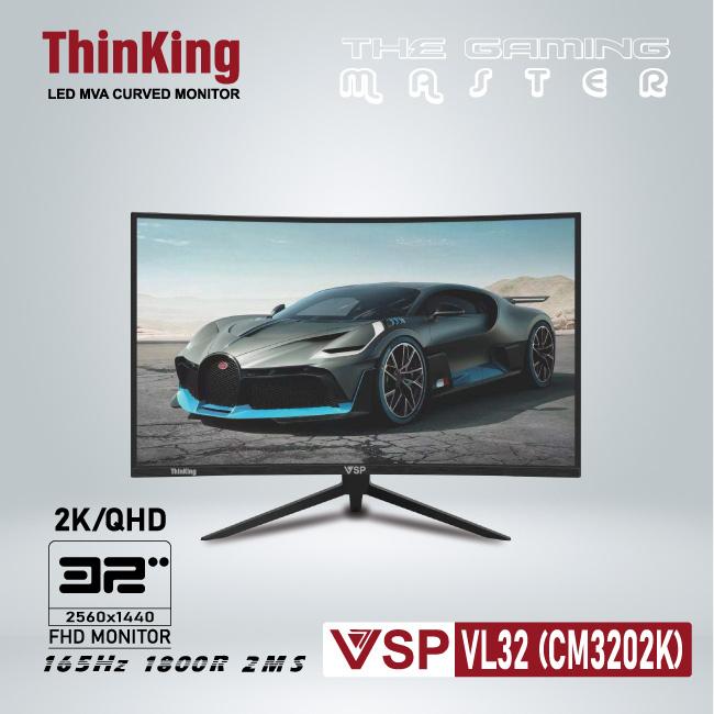 Màn hình cong VSP Thinking Cuver monitor 2K 32inch (CM3202K)